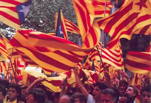 Inny rodzaj manifestacji w Dzień Katalońskiego Święta Narodowego