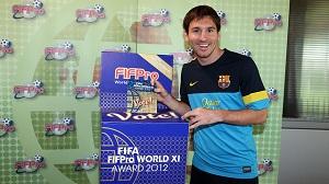 Messi głosuje pierwszy w FIFA/FIFPro 2012 World XI