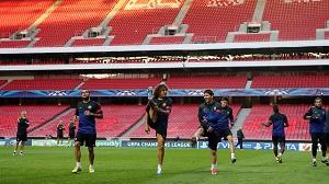 Trening na Estádio Da Luz