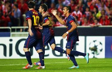Pechowa wygrana: Benfica Lizbona 0-2 FC Barcelona