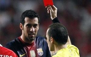 Czerwona kartka dla Busquetsa
