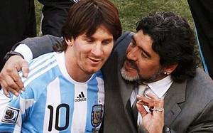 Messi goni Maradonę