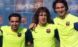 Ibra lepszy od Puyola i Xaviego