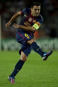 Xavi bije rekord podań w Lidze Mistrzów
