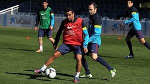 Ostatni trening przed debiutem w Copa del Rey