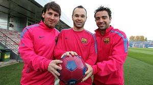 Messi, Xavi, Iniesta