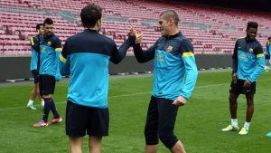 Ostatni trening przed meczem z Saragossą