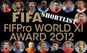 Nominowani pomocnicy do FIFA FIFPro World XI 2012