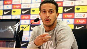 Thiago Alcántara na konferencji prasowej