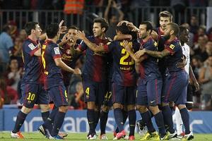 Barça zespołem z największą liczbą goli w 2012 roku