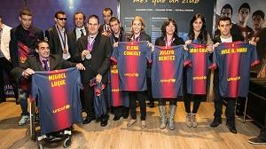 Medaliści Paraolimpiady na Camp Nou
