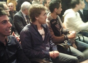 Muniesa i Cuenca na prezentacji koszulek Katalonii