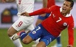 Chile przegrywa z Serbią