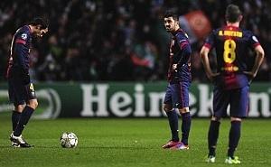 Barça traci gola raz na siedem strzałów