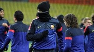 Barça walczy w Moskwie z zimnem