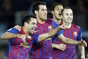 Iniesta, Cesc, Busquets i Xavi – czterech wspaniałych Barçy