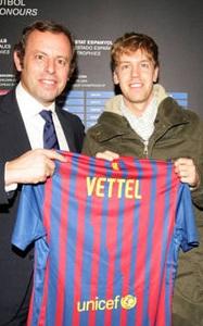 Vettel: Messi to bardzo skromny facet