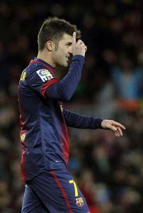 Villa rozegrał pierwsze po roku przerwy, pełne 90 minut