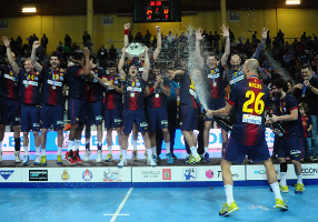 Barça Intersport – Atlètico Madryt: Trzeci tytuł w sezonie (32:24)