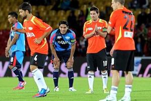 Messi i Falcao przed meczem Barça-Atlético