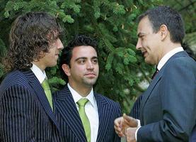 Zapatero: Xavi jest sercem Hiszpanii