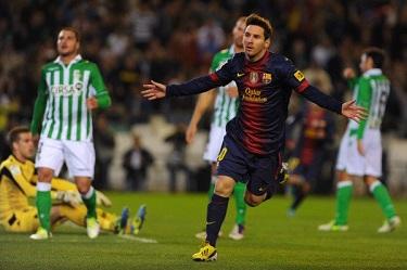 Rekord Messiego i trzy punkty: Betis Sevilla 1-2 FC Barcelona