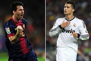 Messi 10 bramek przed Ronaldo