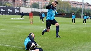 Trening dzień przed pojedynkiem z Atlètico
