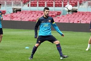Villa trenował z grupą