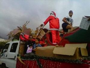 Alexis świętym Mikołajem w Tocopilli