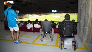 Ułatwienia na Camp Nou dla osób na wózkach inwalidzkich