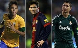 Messi przed Neymarem i Cristiano