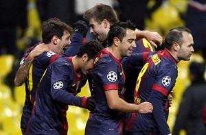 Messi, Xavi, Iniesta i Piqué w idealnej drużynie UEFA