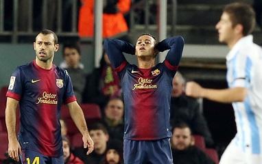 Drugi mecz zadecyduje: FC Barcelona 2-2 Málaga