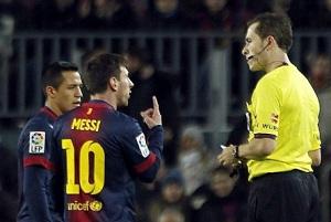 Znany arbiter spotkania Barça-Osasuna