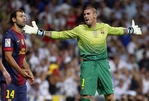 Valdés do Interu, Courtois do FC Barcelony