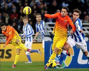 Jordi Alba i Pedro po meczu