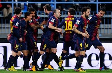 Awans do półfinału: Málaga 2-4 FC Barcelona
