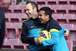 Trening z Pinto na Camp Nou