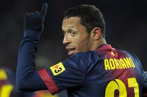 Adriano Correia w meczu FC Barcelona - Athletic Bilbao