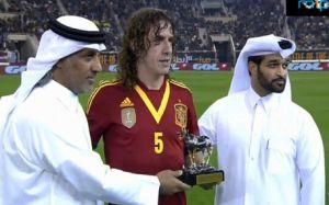 Puyol uhonorowany podczas meczu z Urugwajem