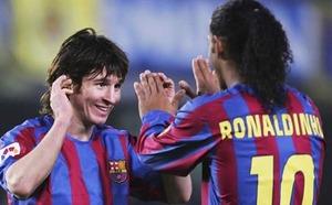 Ronaldinho: Żałuję, że nie grałem dłużej z Leo Messim