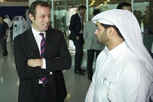 Sandro Rosell także jest już w Doha