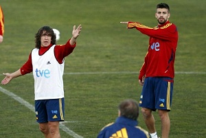 Puyol rozegra setne spotkanie dla La Roja
