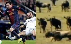 Leo Messi vs Real Madryt (hieny)