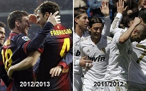 Real Madryt 2011/12 vs FC Barcelona 2012/13