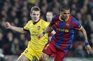 """Dani Alves: Chciałbym Wilshere""""a w Barcelonie"""