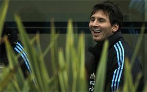 Lionel Messi na zgrupowaniu reprezentacji Argentyny