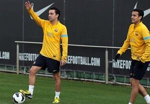 Xavi trenował z grupą
