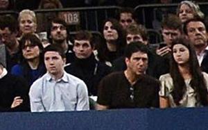 Tito Vilanova widziany na meczu tenisa